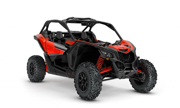MY21-Can-Am-Maverick-X3-DS-TurboR-CanAmRed-34Front-INTL