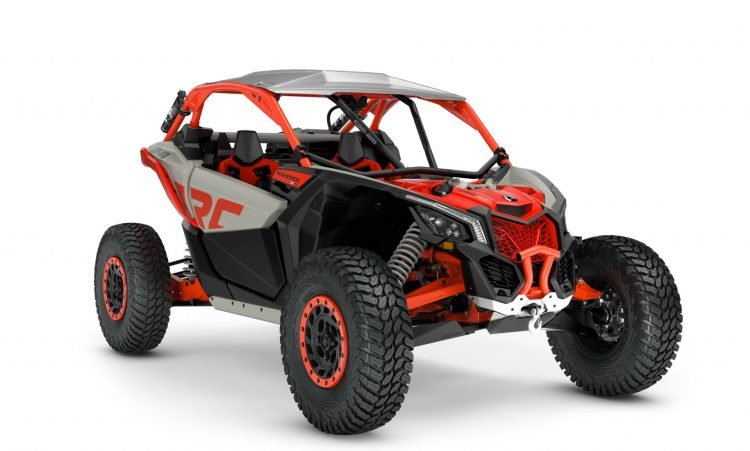 MY21-Can-Am-Maverick-X3-Xrc-TurboRR-ChalkGrey-MagmaRed-34Front-INTL