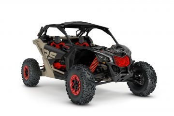 MY21-Can-Am-Maverick-X3-XrsSAS-TurboRR-MacchiatoSatin-Black-CanAmRed-34Front-NA